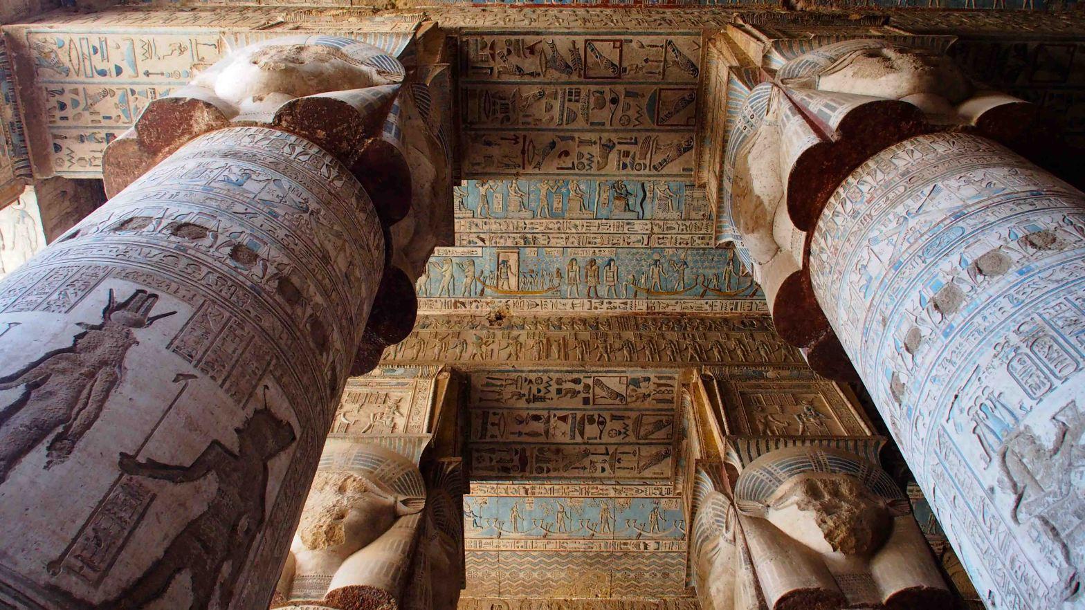 Dendera Columnas